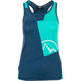 La Sportiva Earn camicia a maniche corte Donna blu/turchese